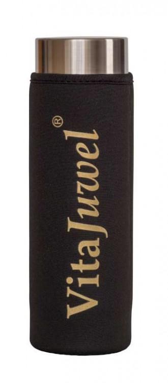 """Ochranný obal na láhev ViA z neoprenu """"dlouhý"""" černý"""