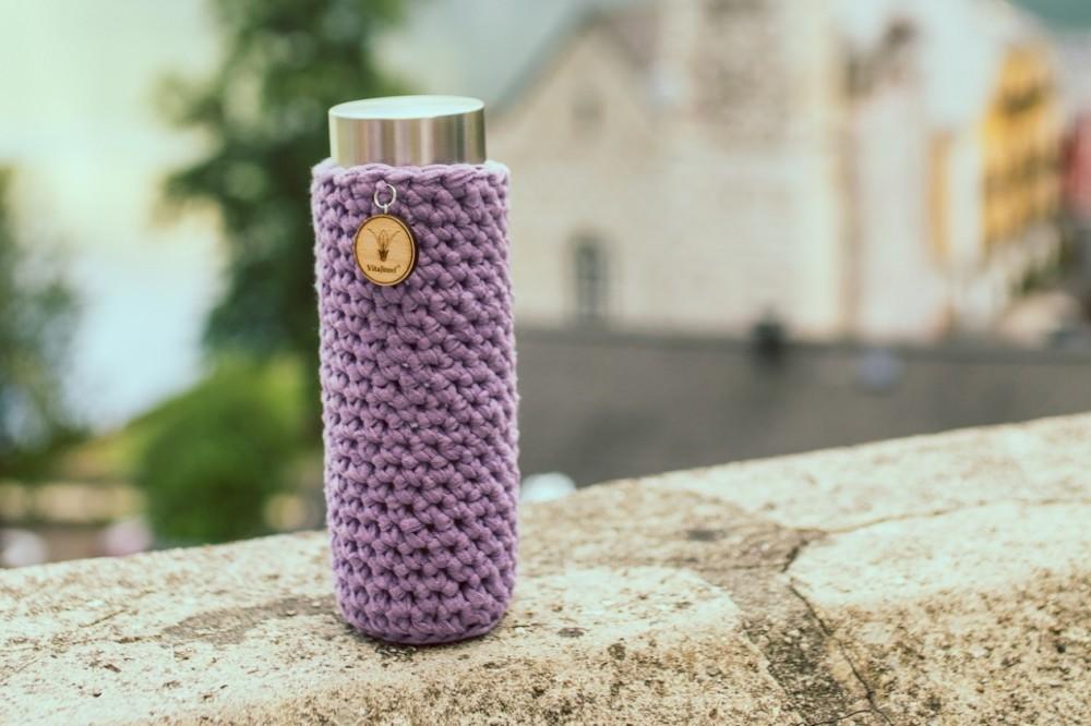 Lahev ViA | ručně háčkovaný obal z přírodní bavlny (více barev)