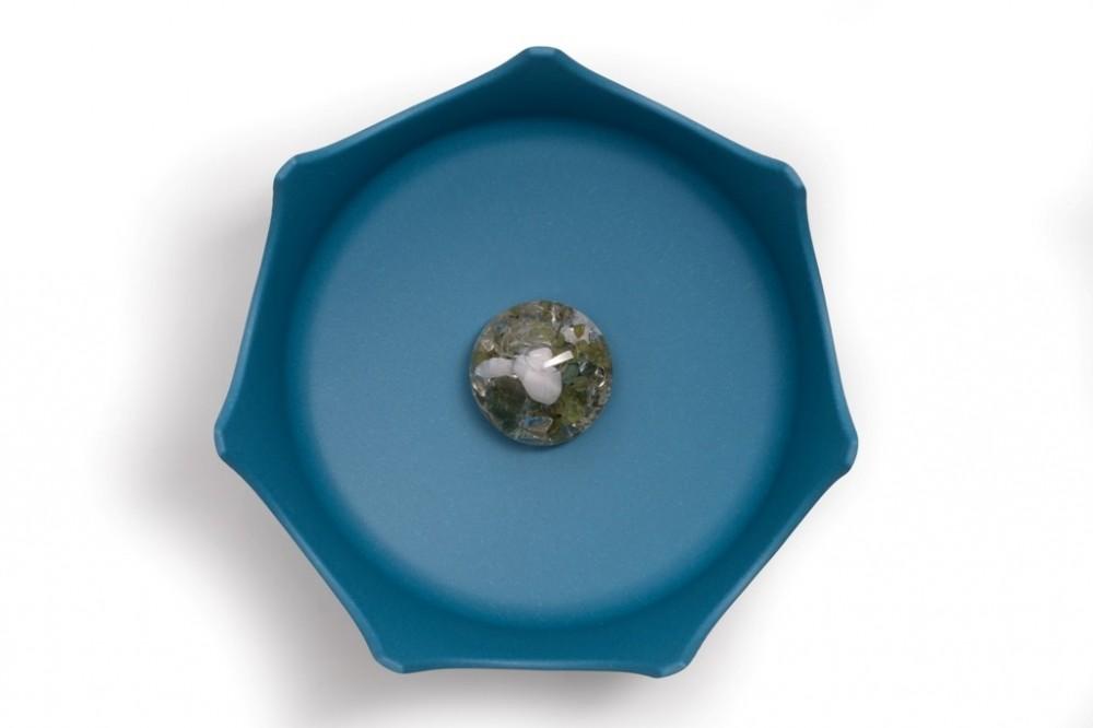 Drahokamová miska CrownJuwel pro domácí zvířata oceánová modř