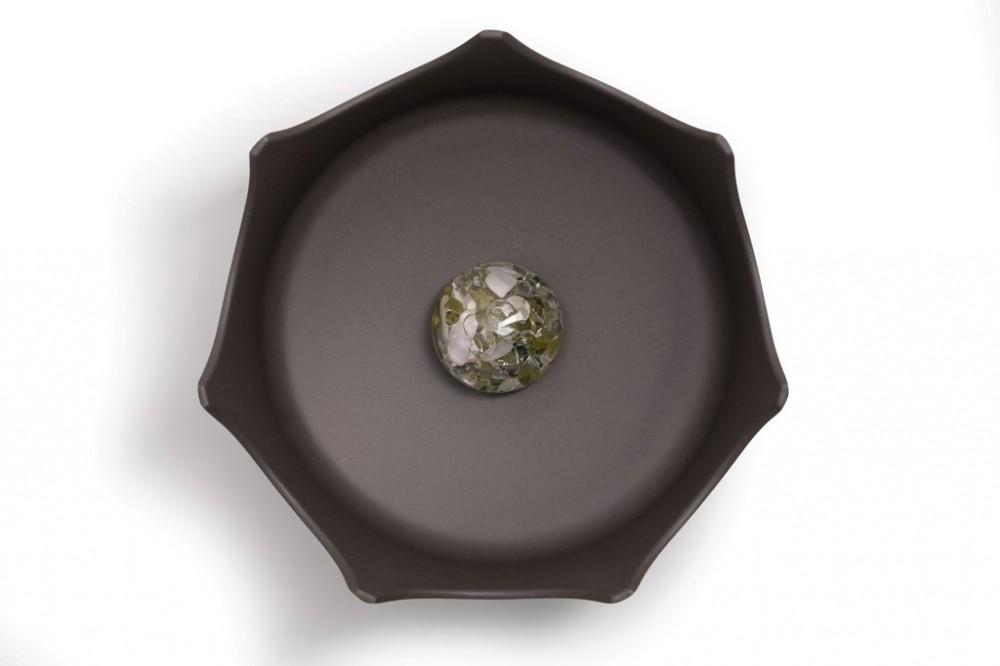 Drahokamová miska CrownJuwel pro domácí zvířata - břidlicově šedá